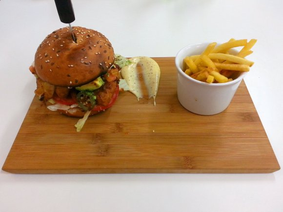 Burger and chips 1