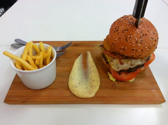 Burger and chips 2