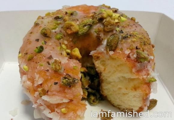 Pistachio doughnut (dough texture)