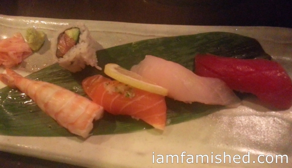Entree Sushi (varieties of fresh fish delicacies, mostly prepared raw)
