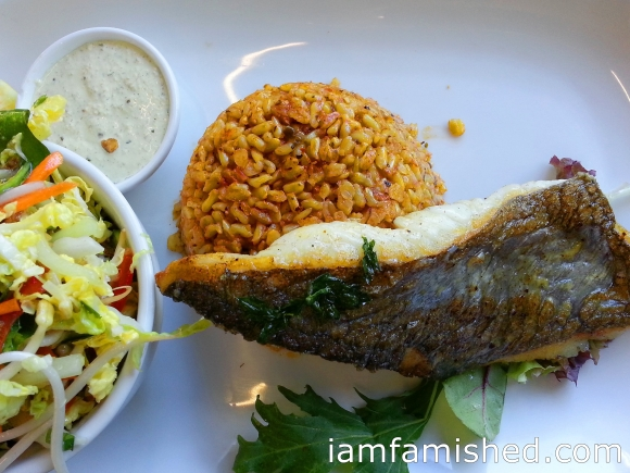 Tank for One (grilled fish with rice, salad & tartare)