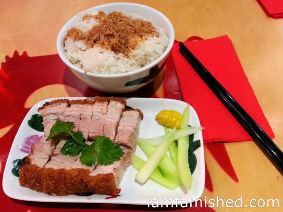 Roast pork belly with steamed white rice