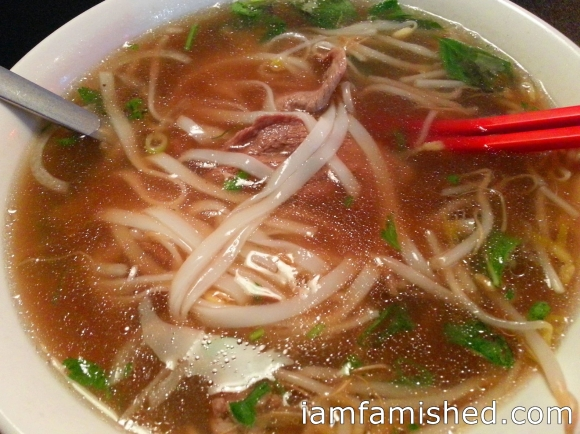 Rare Beef Pho (supposedly no MSG added)