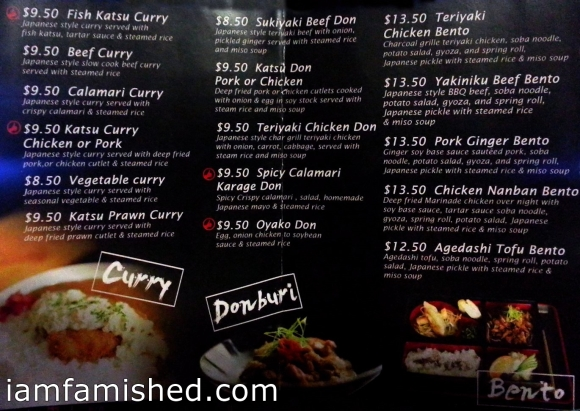 Takeaway Menu (back)