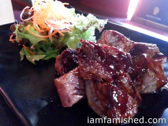 Grilled Porterhouse served with Teriyaki Sauce