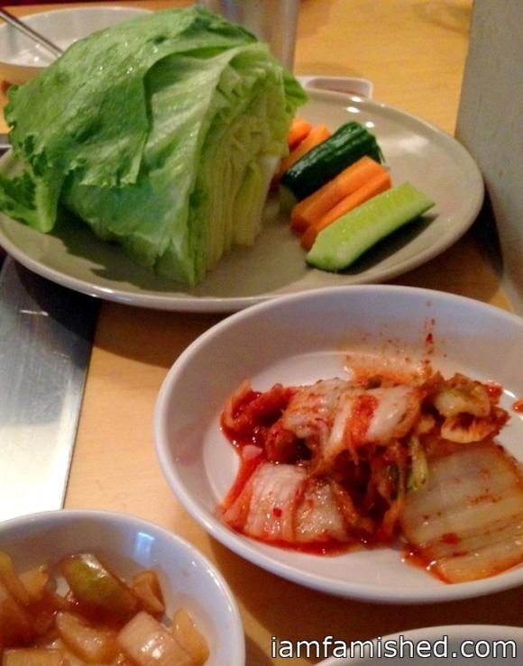 Homemade Kimchi, Pickled Onion, Ssam Vegies