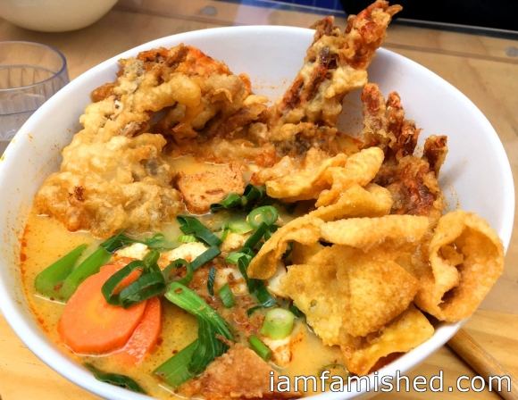 Soft Shell Crab Curry Laksa