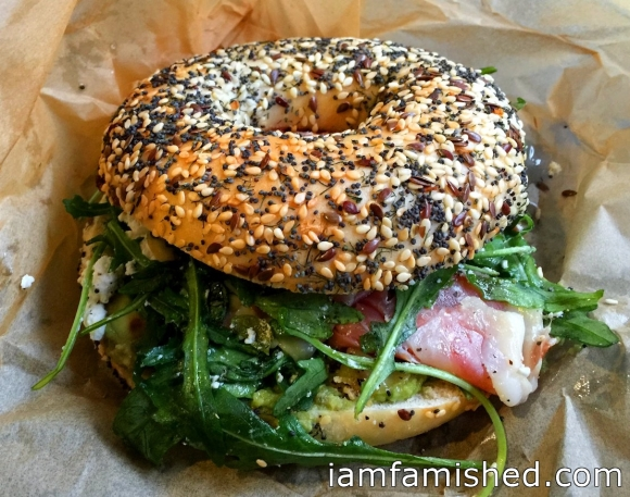 Everything bagel with Hells Kitchen
