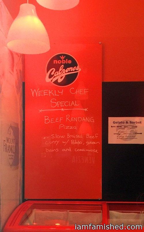 Weekly chef specials